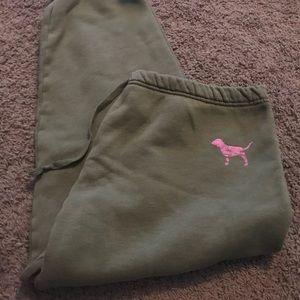 Pink drawstring sweatpants